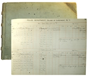 Larchmont, NY Police Department Log Book -- Records Incidents in Larchmont Luxury Community From 1911-1913
