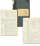 New York City Police Department Log Book -- Records Incidents in the Larchmont Luxury Community From 1931-1932