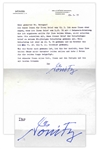 German Admiral Karl Donitz Typed Letter Signed -- Hitlers Successor