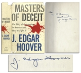 J. Edgar Hoover Masters of Deceit Signed Book