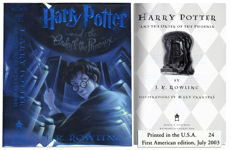 ''Harry Potter and the Order of the Phoenix'' -- First American Edition, First Printing