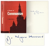 J. Edgar Hoover Signed A Study of Communism