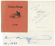 Curious George First Edition Signed by H.A. Rey -- First Book From 1941