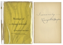 Langston Hughes Signed First Edition of His Poetry, Montage of a dream deferred