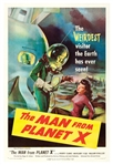 Classic Sci-Fi B-Movie One Sheet for the 1951 Film The Man from Planet X