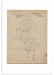 Enrico Caruso Hand-Drawn Sketch on Plaza Hotel Buenos Aires Stationery Circa 1917 While On a South American Tour
