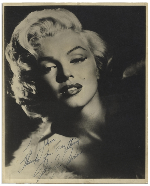 Gorgeous Marilyn Monroe Signed Photo Measuring 7.625 x 9.5 -- With Beckett & PSA COAs
