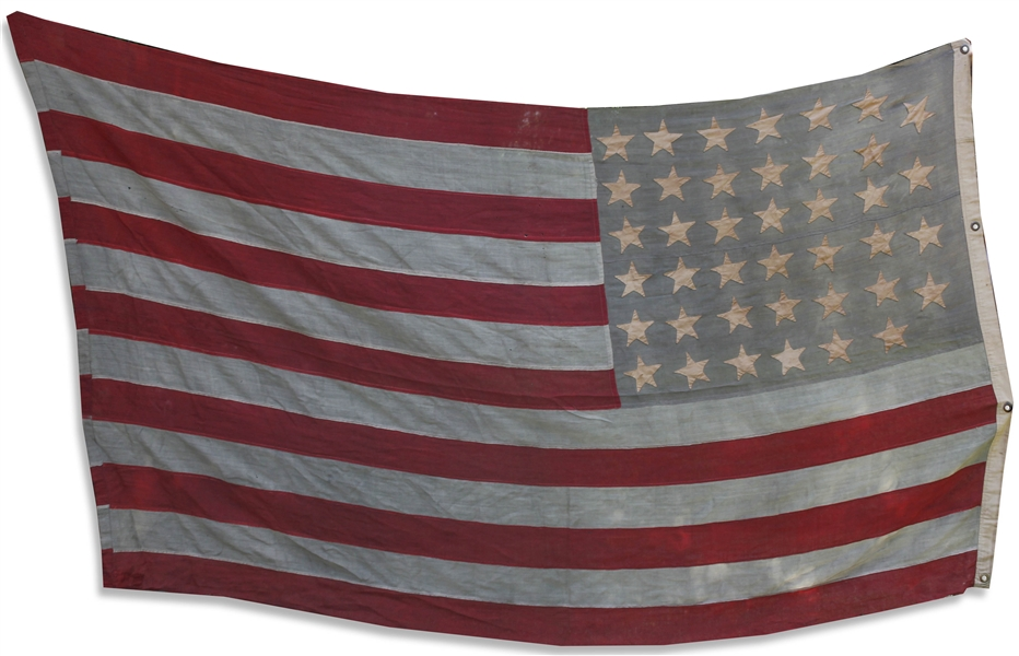 Large 40-Star Flag From 1889, Signifying North and South Dakota as States -- Flag Measures Nearly 10' x 6'