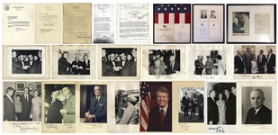 Large Lot of Presidential Signed Photos & Memorabilia - From Harry Truman to George H.W. Bush, Including U.S. Flag That Flew Over the Capitol on the Day of Gerald Fords Inauguration
