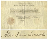 Abraham Lincoln Document Signed as President -- With Full Abraham Lincoln Signature