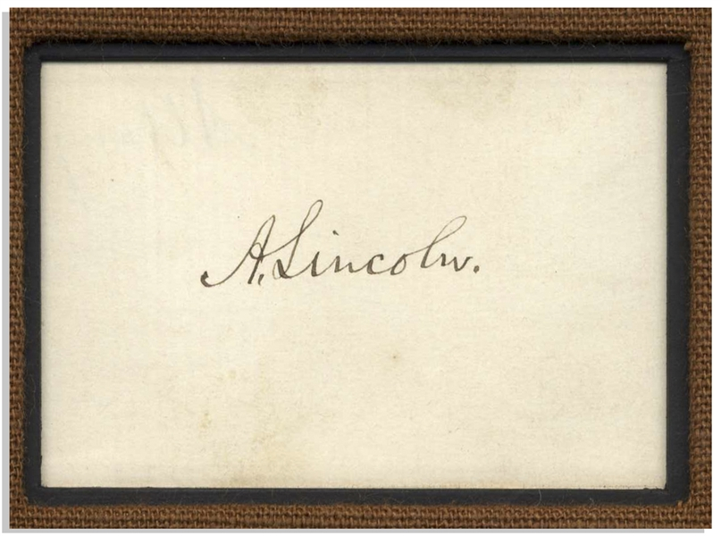 Abraham Lincoln Signature