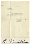 Albert Einstein Letter Signed, Regarding the Use of a Letter He Wrote