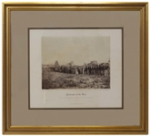 Original Albumen Photograph From Alexander Gardners Photographic Sketch Book of the Civil War, Entitled Group of Confederate Prisoners at Fairfax Court-House -- Near Fine Condition
