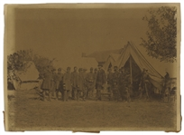 The Famous Civil War Photograph, Lincoln at Antietam -- Albumen Print by Alexander Gardner Measures 9 x 6.75