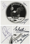 Apollo 11 Crew Signed 10 x 8 NASA Photo of the Mission Insignia -- Near Fine With Bold, Uninscribed Signatures -- With Steve Zarelli COA