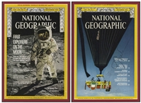 Apollo 11 Crew Signed National Geographic Cover -- With Steve Zarelli COA