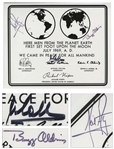 Apollo 11 Crew Signed 10 x 8 NASA Photo of the Apollo 11 Plaque -- With Bold, Uninscribed Signatures -- With Steve Zarelli COA