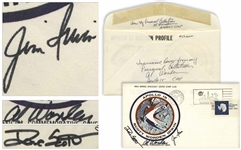 Apollo 15 Crew Signed NASA Insurance Cover -- From Al Wordens Personal Collection, as Written by Him, and Also With His Signed COA