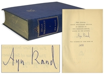 Ayn Rand Signed Atlas Shrugged -- Number 1,690 in a Special 10th Anniversary Edition Limited to 2,000