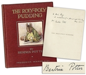 Beatrix Potter Signed First Edition, Second Issue of Roly-Poly Pudding