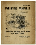 Rare British Counter-Terrorism Pamphlet for Palestine -- Published December 1946