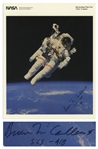 Bruce McCandless Signed 8 x 10 Photo of Him Performing the First Non-Tethered Spacewalk