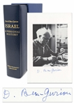 David Ben-Gurion Signed Limited Edition of Israel: A Personal History -- Near Fine Condition