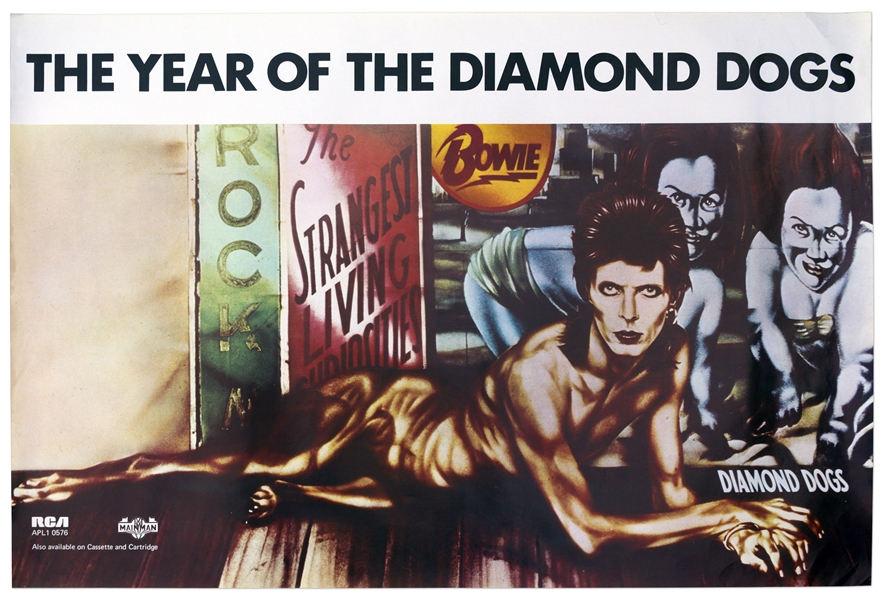 David Bowie ''Diamond Dogs'' Poster From 1974 With the Famous Peelaert Album Art