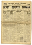 Dewey Defeats Truman Newspaper -- The Most Famous Newspaper Mistake of All Time