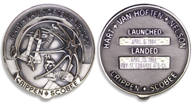 Dick Scobees Robbins Medal #3F, Flown on Challenger STS-41-C