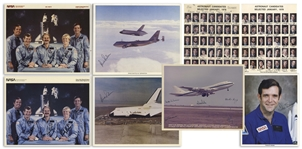 Lot of 8 Signed Photos Given by Dick Scobee to His Family -- Including Two Signed Photos of the 35 Astronaut Candidates Selected in January, 1978