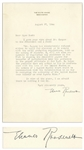 Eleanor Roosevelt Letter Signed as First Lady -- Roosevelt Writes to Journalist Pearl Buck Regarding the Plight of Puerto Rican Nationalist Pedro Albizu Campos