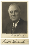 Franklin D. Roosevelt Signed 7 x 9 Photo