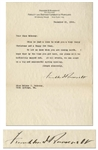 Franklin D. Roosevelt Letter Signed From 1926, With Full Franklin D. Roosevelt Signature -- FDR Writes of the Warm Springs Institute, ...we can count on a big and successful spring opening...