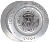 George H.W. Bush Marine One Pewter Plate