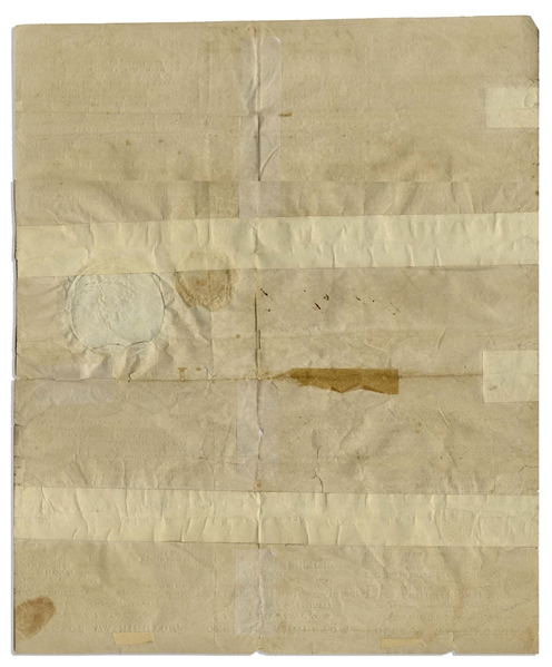 George Washington Three Language Ship's Paper Signed as President -- Dated 15 July 1795