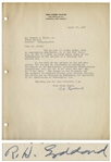 Scarce 1937 Letter Signed by Robert H. Goddard, the Father of Space Flight -- The subject of rocket power, from an engineering standpoint, is so new... -- With JSA COA