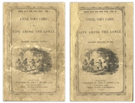 First Edition, First Printing of Uncle Toms Cabin by Harriet Beecher Stowe -- The Scarcest Variant of the First Printing, in Publishers Wrappers