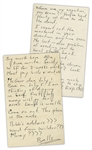 Hunter S. Thompson Autograph Letter From Big Sur -- ...First big money will go for acres. Land is wealth...