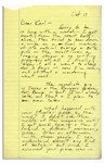 Lengthy Autograph Letter by Hunter S. Thompson -- ...If I weaken any further, I might break down & pray for deliverance...