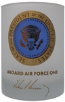 John F. Kennedy Air Force One Glass