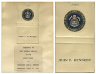 John F. Kennedy Matchbook, Gifted by the President in 1962