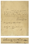 James K. Polk Autograph Letter Signed as President -- Polk Transmits a Message to Congress in April 1848, Likely Regarding the French Revolution of 1848