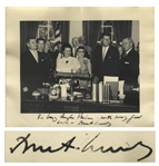 John F. Kennedy Signed 10 x 8 Photo -- With University Archives COA