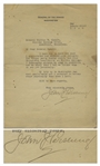 General John Pershing Letter Signed