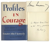 John F. Kennedy Signed Profiles in Courage -- Inscribed to Famed Photographer Alfred Eisenstaedt -- With University Archives COA