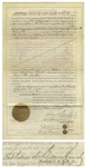 Leland Stanford Deed Signed in 1886 as President of the Central Pacific Railroad Company