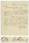 Marcus Reno 1867 Autograph Letter Signed from Fort Vancouver -- ...I respectfully request...to be raised to the [Masonic] Third Degree...
