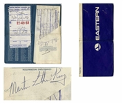 Martin Luther King, Jr. Signed Airplane Boarding Pass -- With University Archives COA