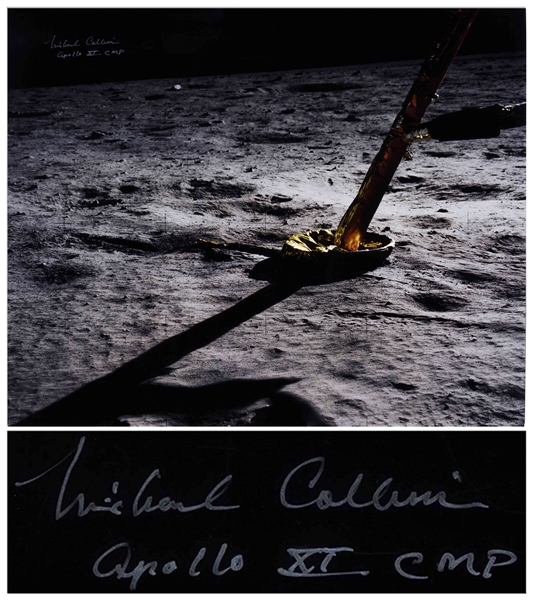 Michael Collins Signed 20'' x 16'' Photo -- ''The Eagle has landed''